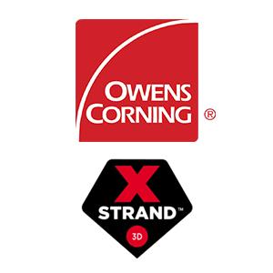 Owens Corning XSTRAND 3D Logos